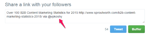 twitter handle attribution