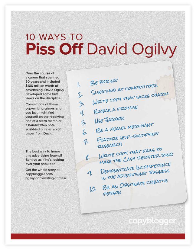 ogilvy copywriting crimes list