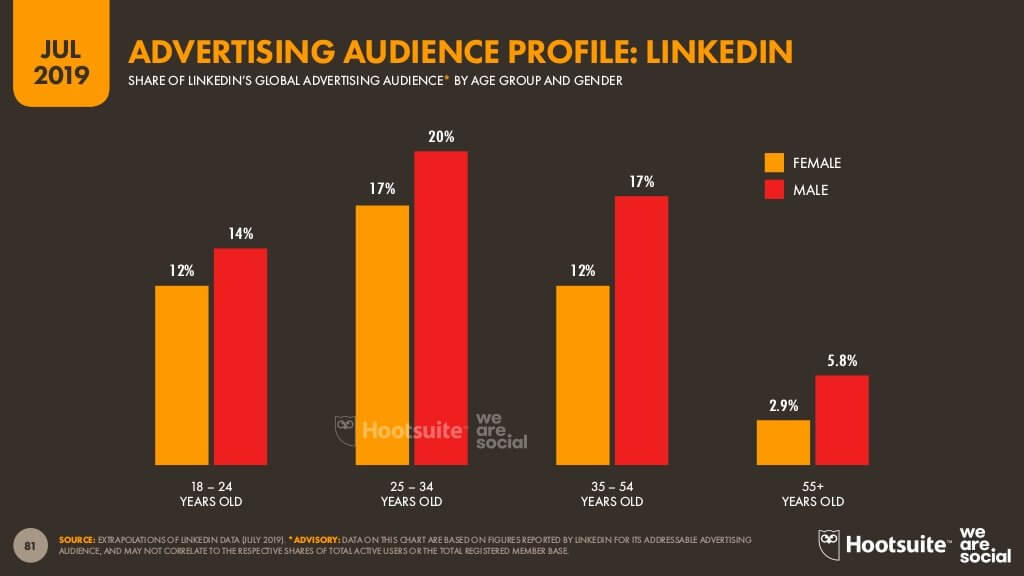 LinkedIn advertising audience profile